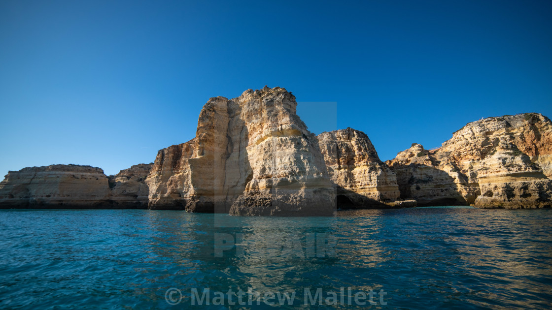 """Elephant Cliffs of Benagil Algarve"" stock image"