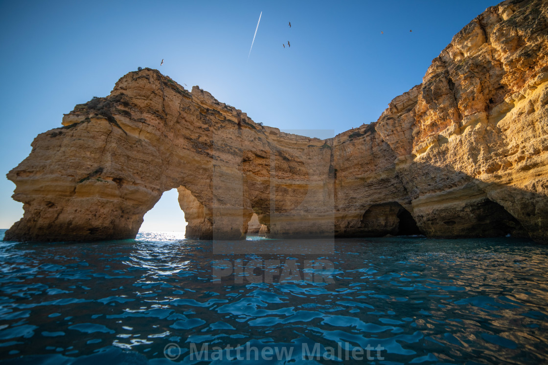 """Cliffs of Algarve"" stock image"