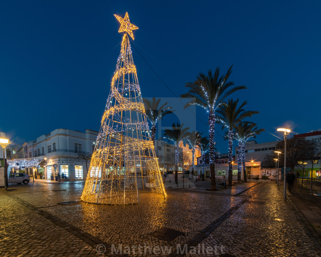 """Christmas in Portimao Portugal"" stock image"