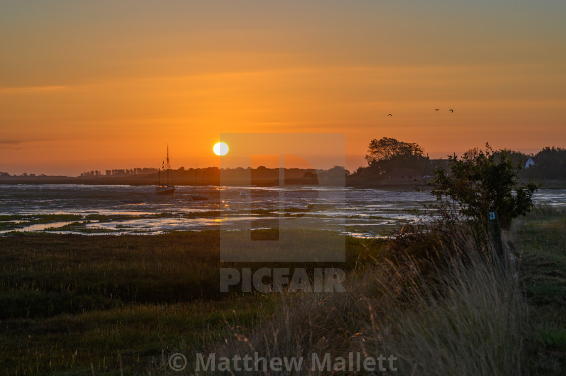 """Sunrise Over Landermere"" stock image"
