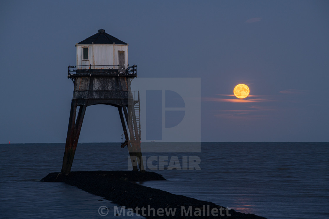 """Rare Friday 13th Harvest Moon"" stock image"