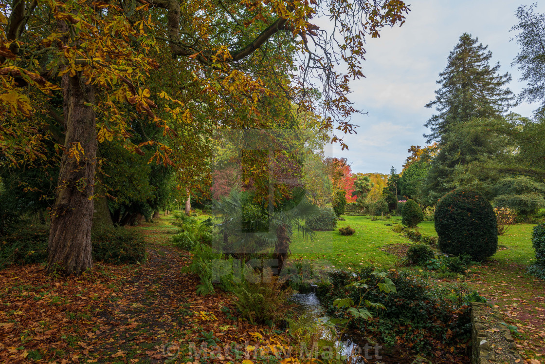 """Lifehouse Spa Essex Autumn Garden"" stock image"