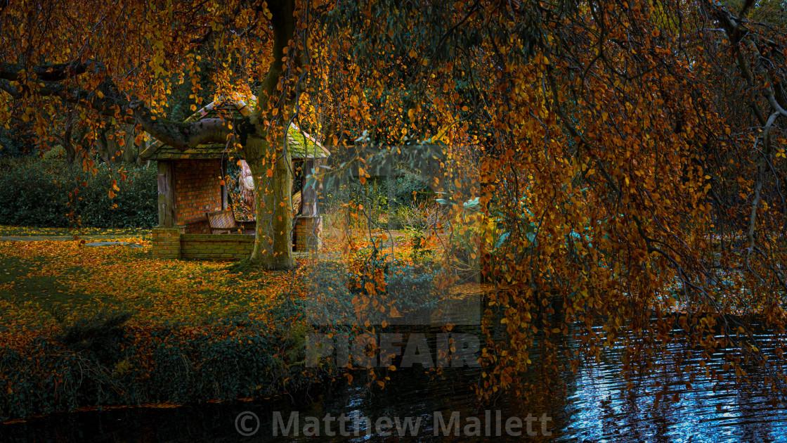 """""""Autumn Essex Retreat"""" stock image"""