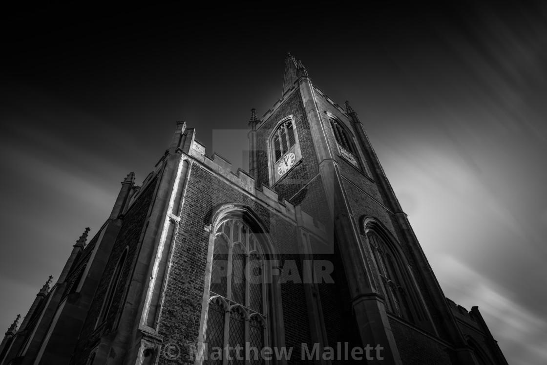 """St Nicholas Church Tower Harwich"" stock image"
