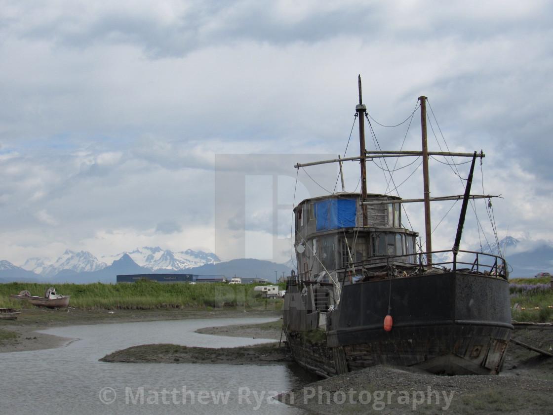 """""""Abandoned ship"""" stock image"""