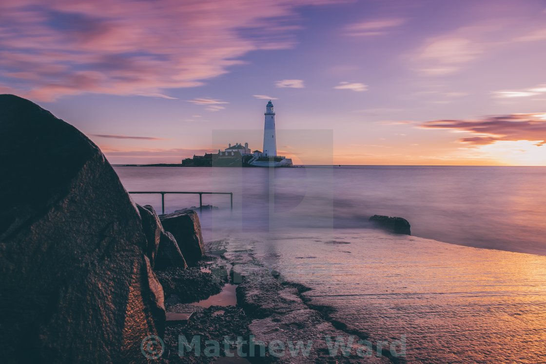 """Moody St Mary's Lighthouse"" stock image"