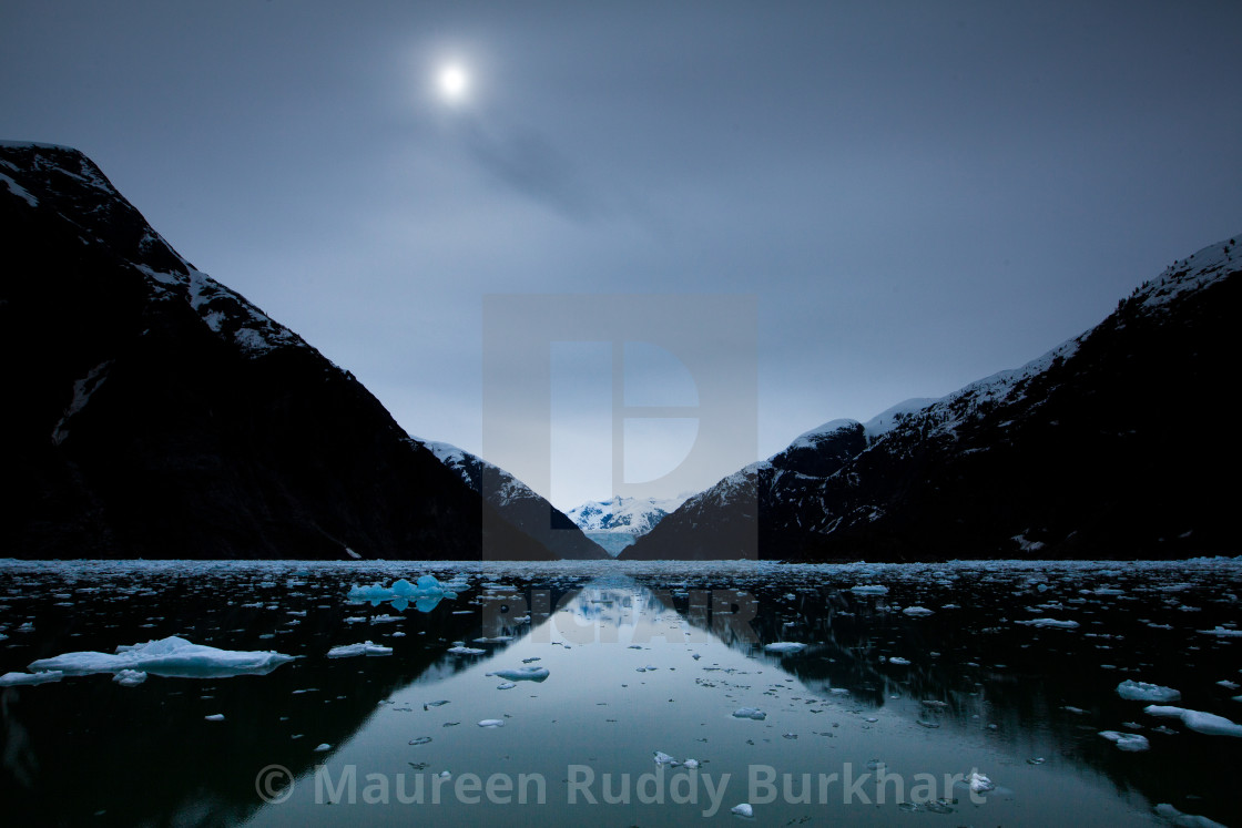 """""""Tracy Arm at Noon"""" stock image"""