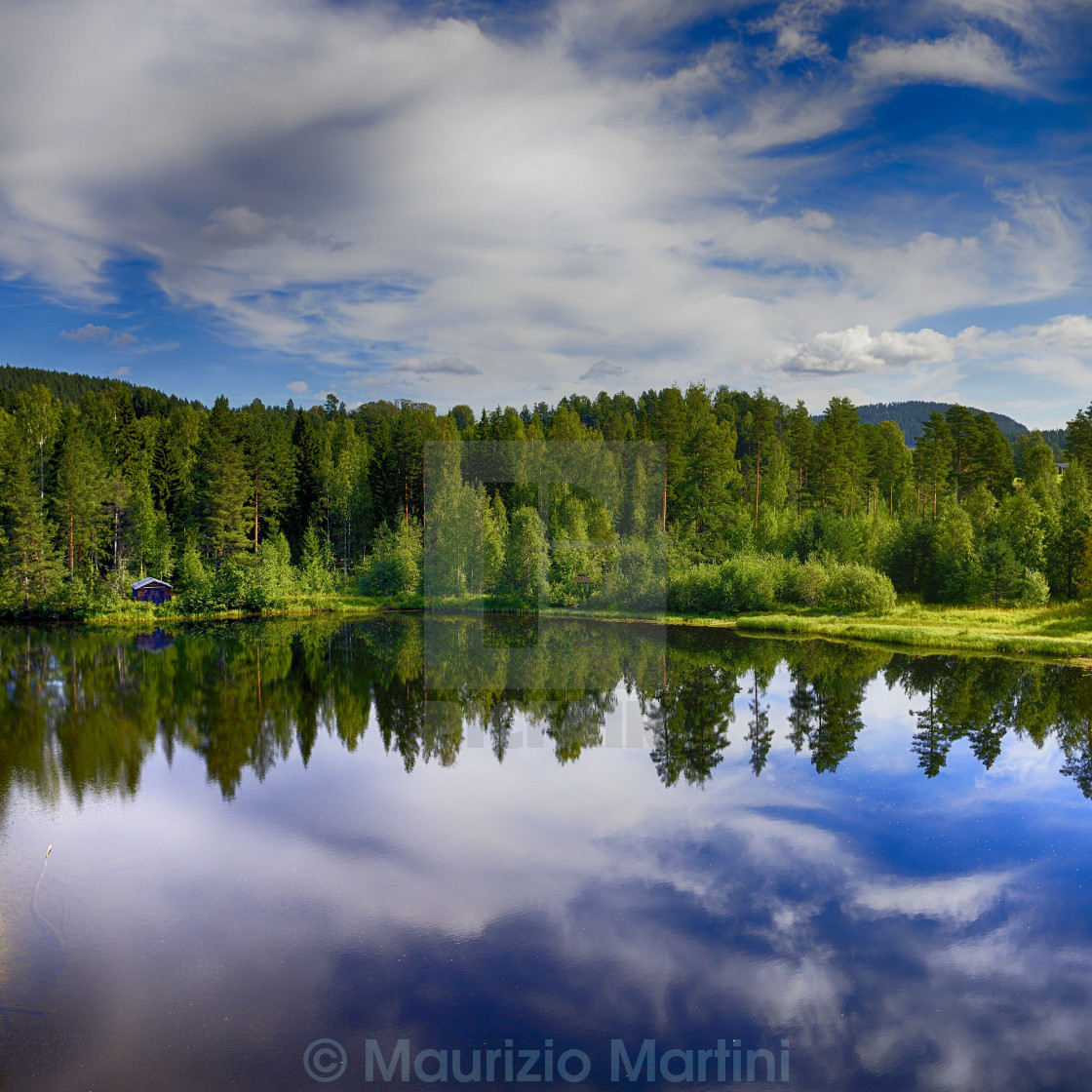 """Swedish lakescape"" stock image"