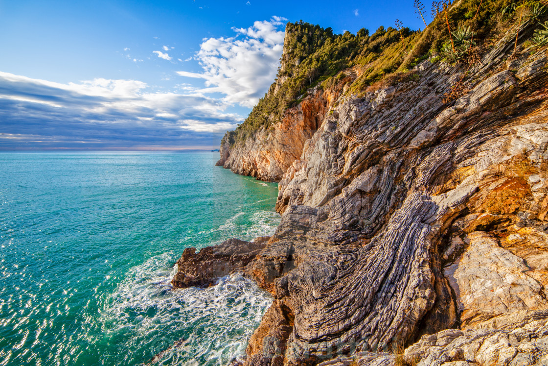 """Rugged cliffs"" stock image"