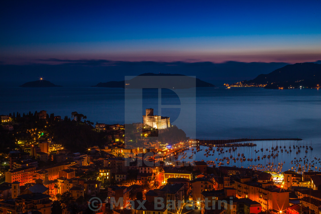 """Gulf of La Spezia"" stock image"