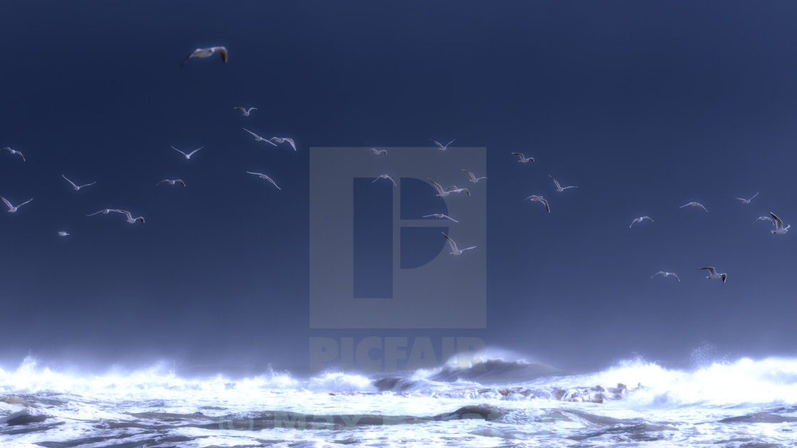 """Stormy sea"" stock image"