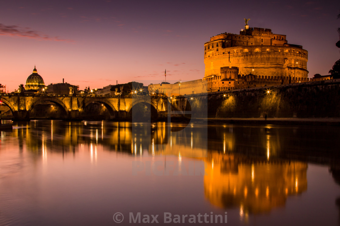 """Sunset on Vatican City"" stock image"