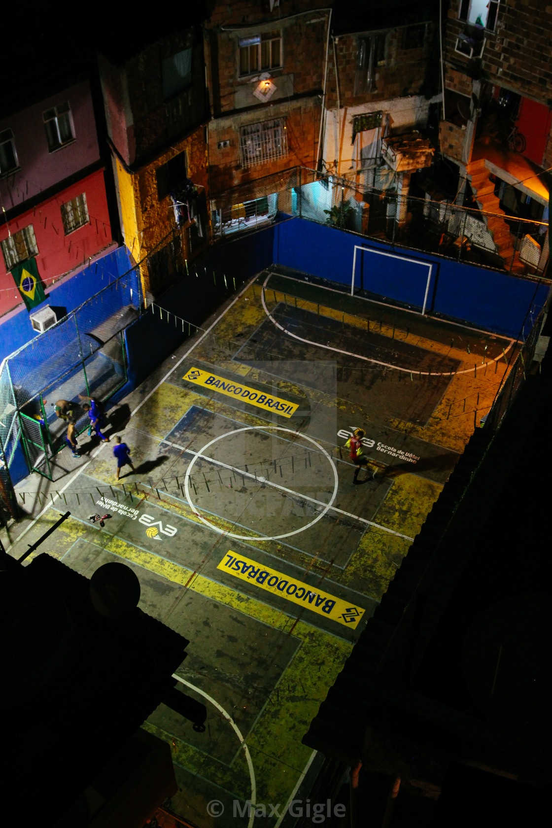 """Late Night Futbol in the Favela"" stock image"