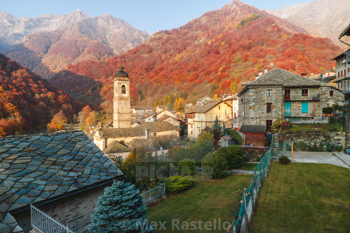 """""""Rustic alpine country in autumn scenery"""" stock image"""