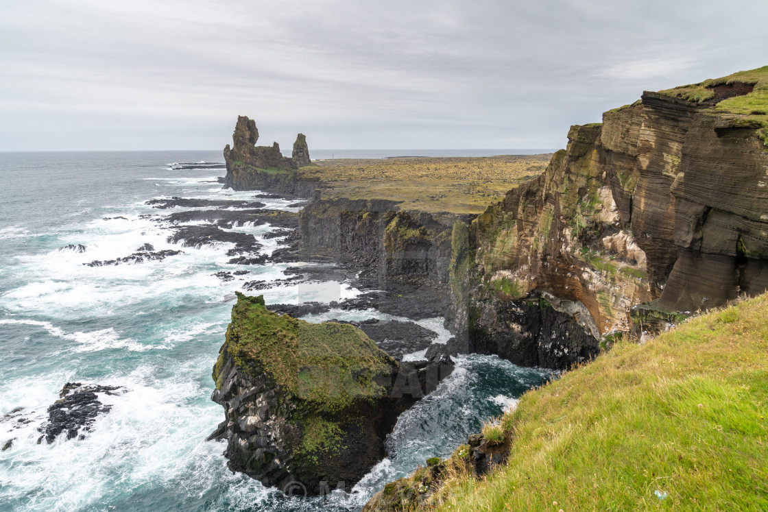 """Cliffs of Iceland"" stock image"