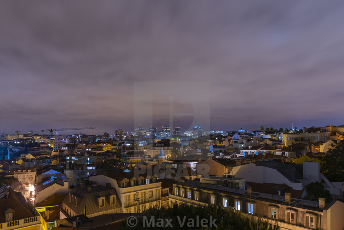 """Lisbon By Night"" stock image"