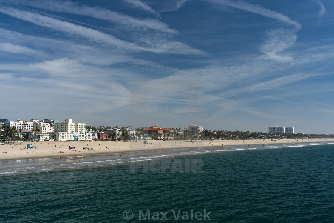 """Santa Monica Beach"" stock image"