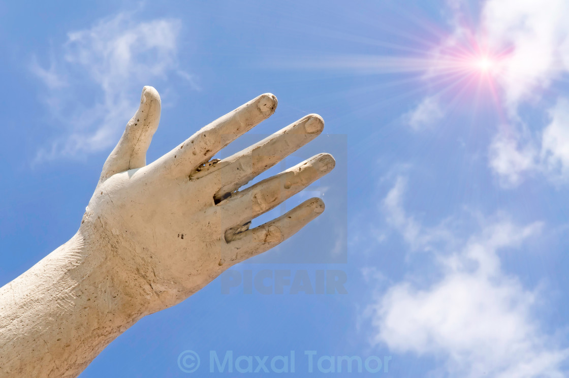 """""""Hand and Sun"""" stock image"""