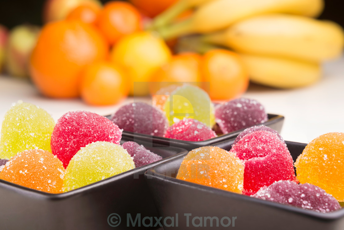"""Fruit Jelly and Fruit"" stock image"