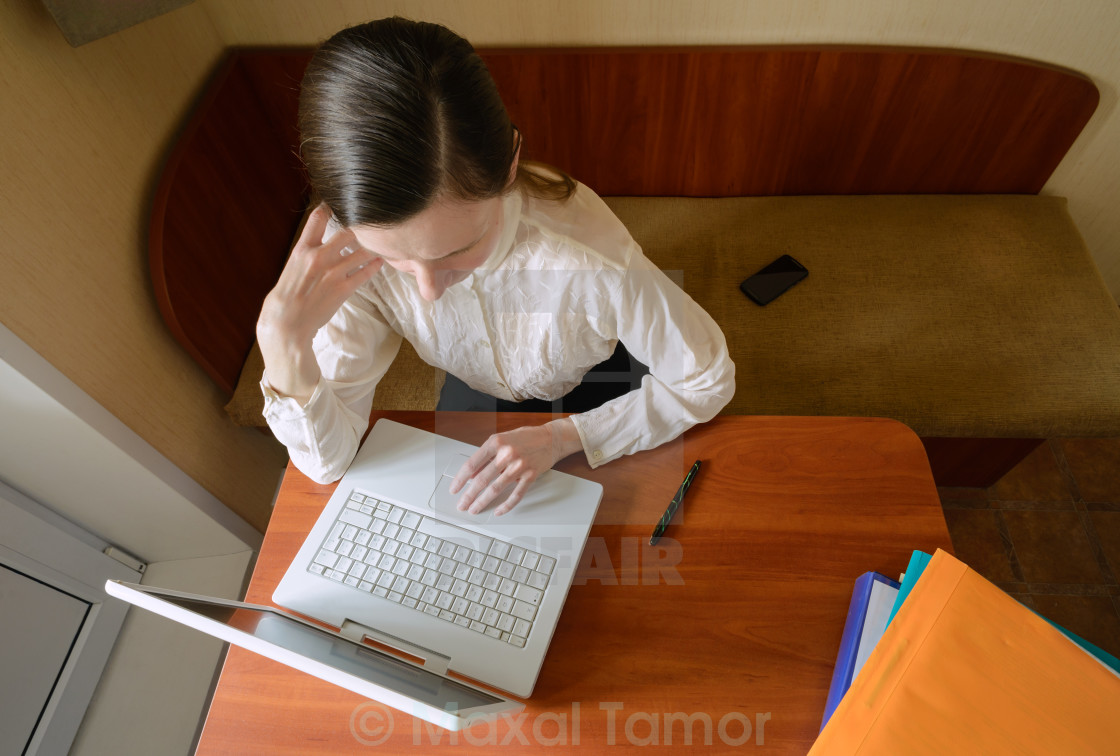 """Elegant Woman with Laptop"" stock image"