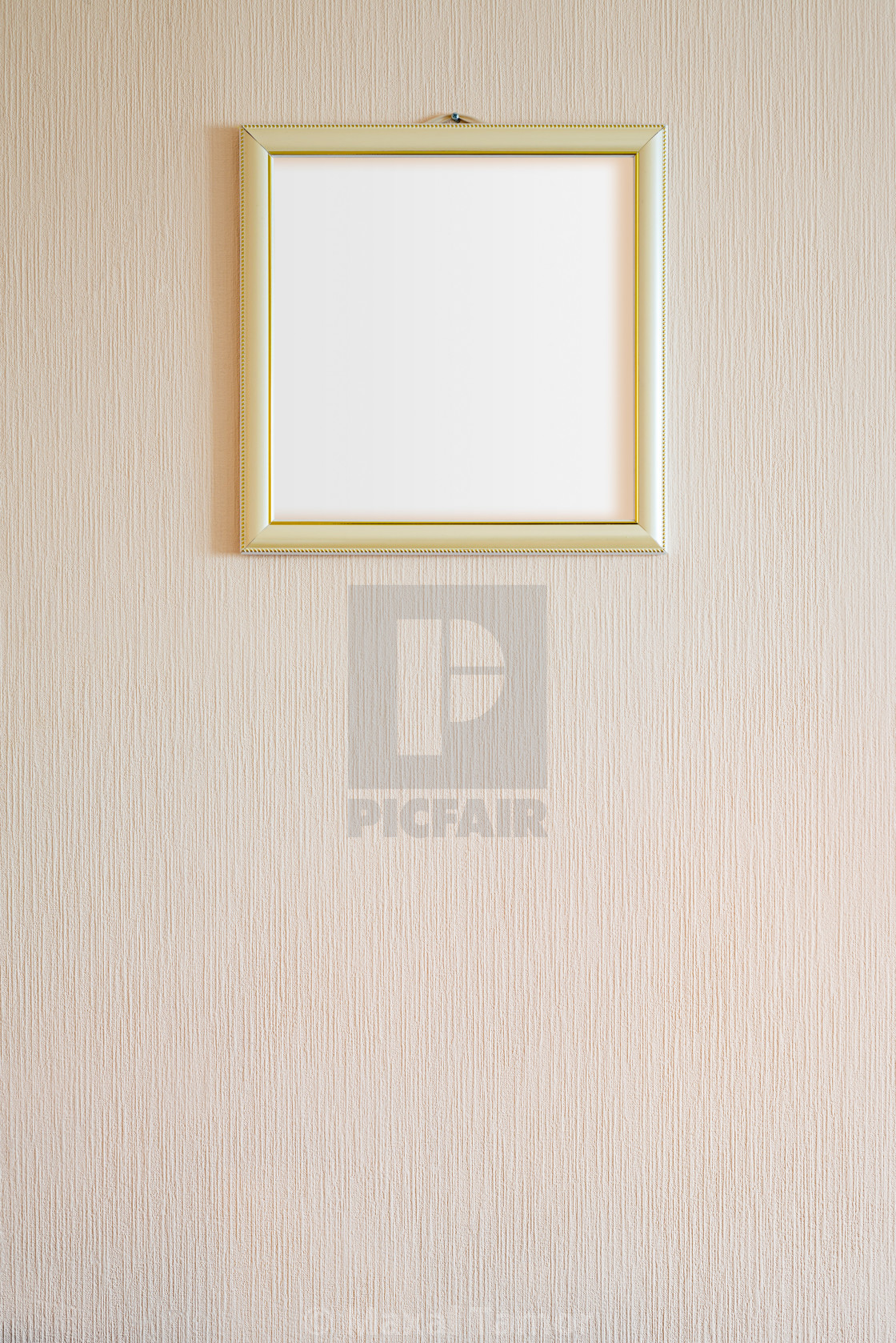 """A true modern photo frame with gold ornaments and blank copy spa"" stock image"