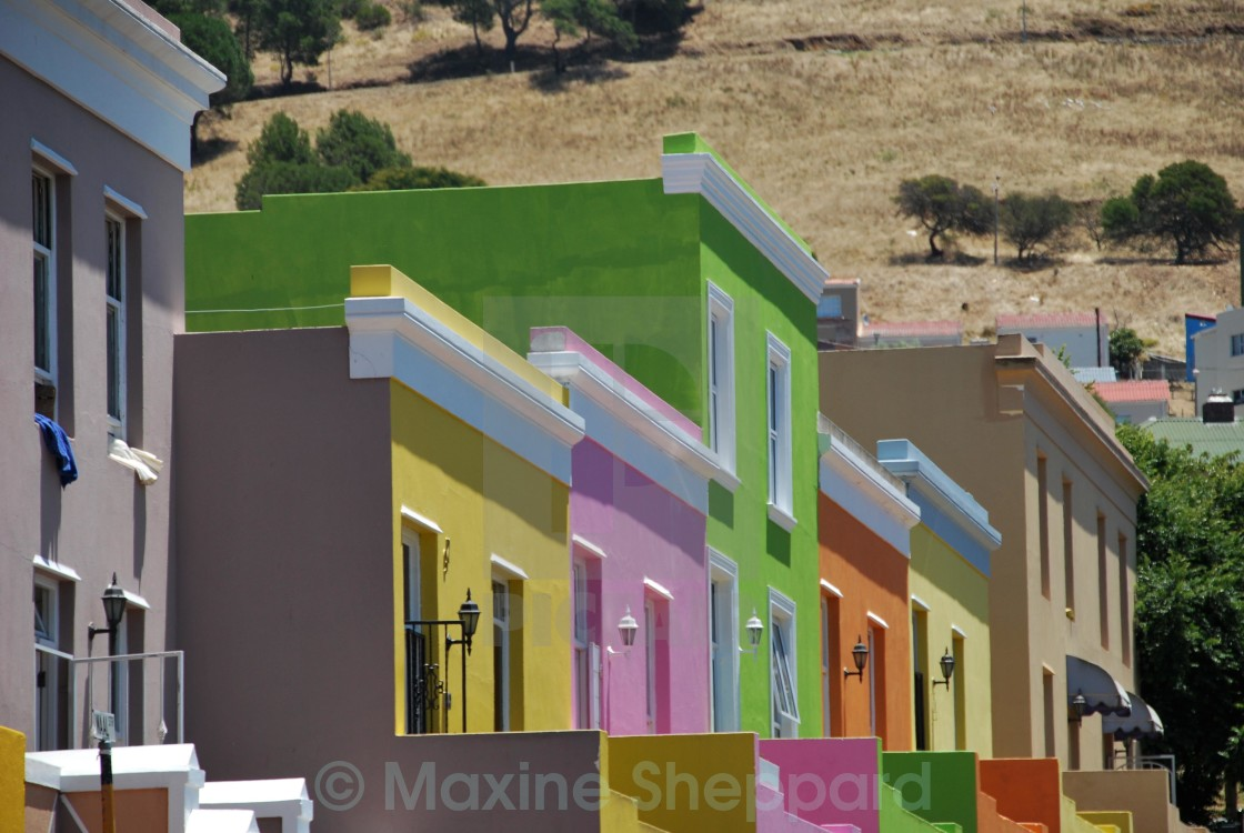 """Bo-Kaap houses, Cape Town"" stock image"