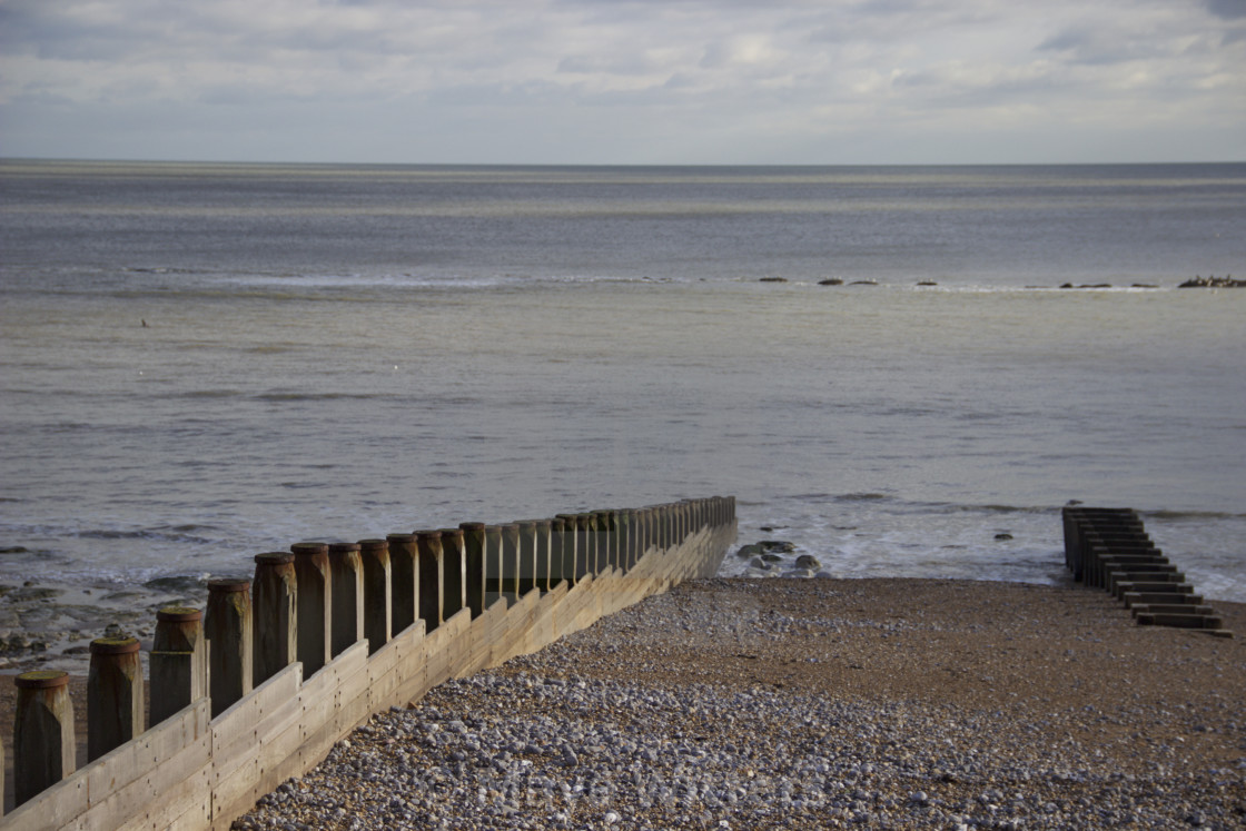 """Eastbourne shore"" stock image"