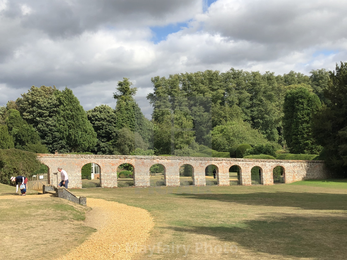 Brick Archway In Highclere Castle Grounds License Download Or