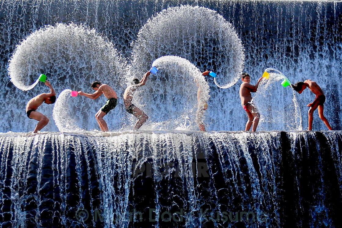 """Play Waterfall at Tukad unda - Bali"" stock image"