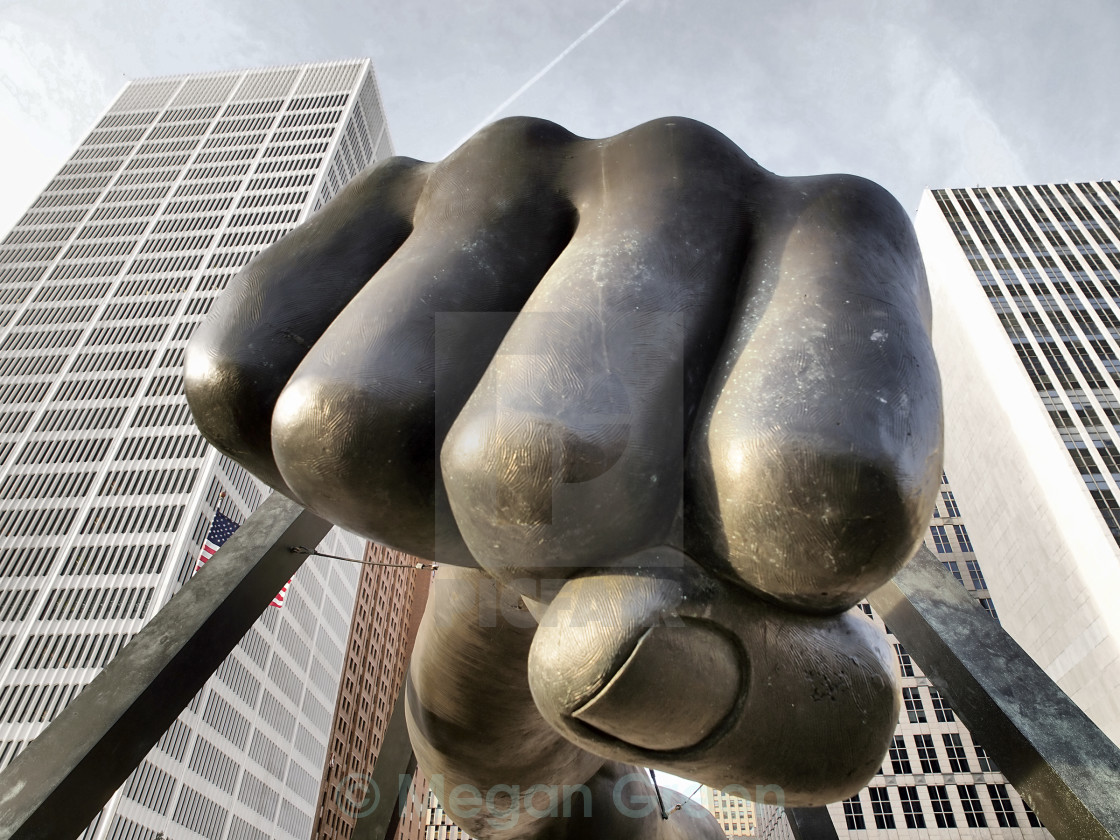 """Detroit Fist"" stock image"