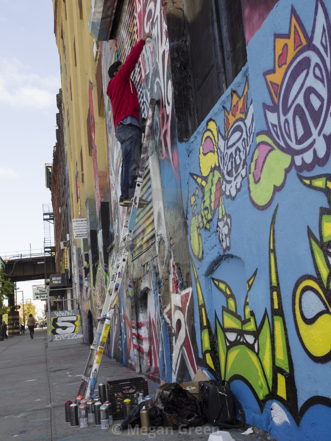 """5 POINTZ Artist"" stock image"
