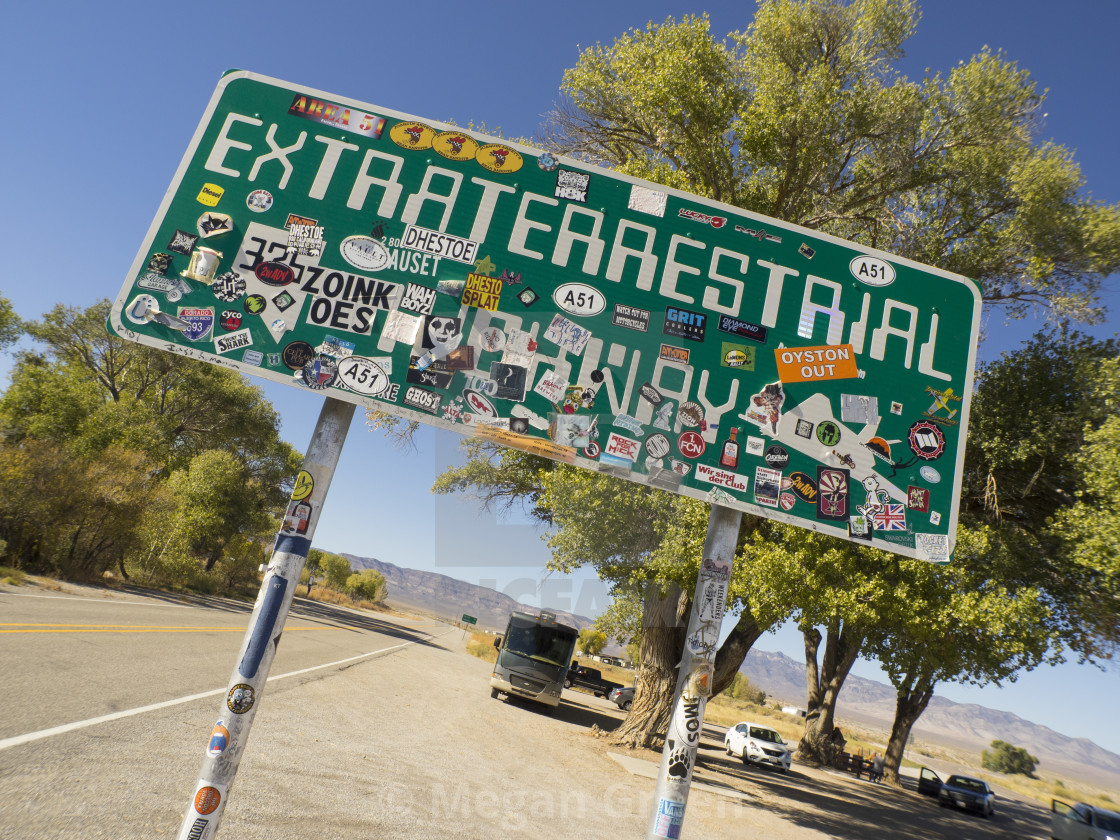 """""""Extra Terrestrial Highway Entrance East"""" stock image"""