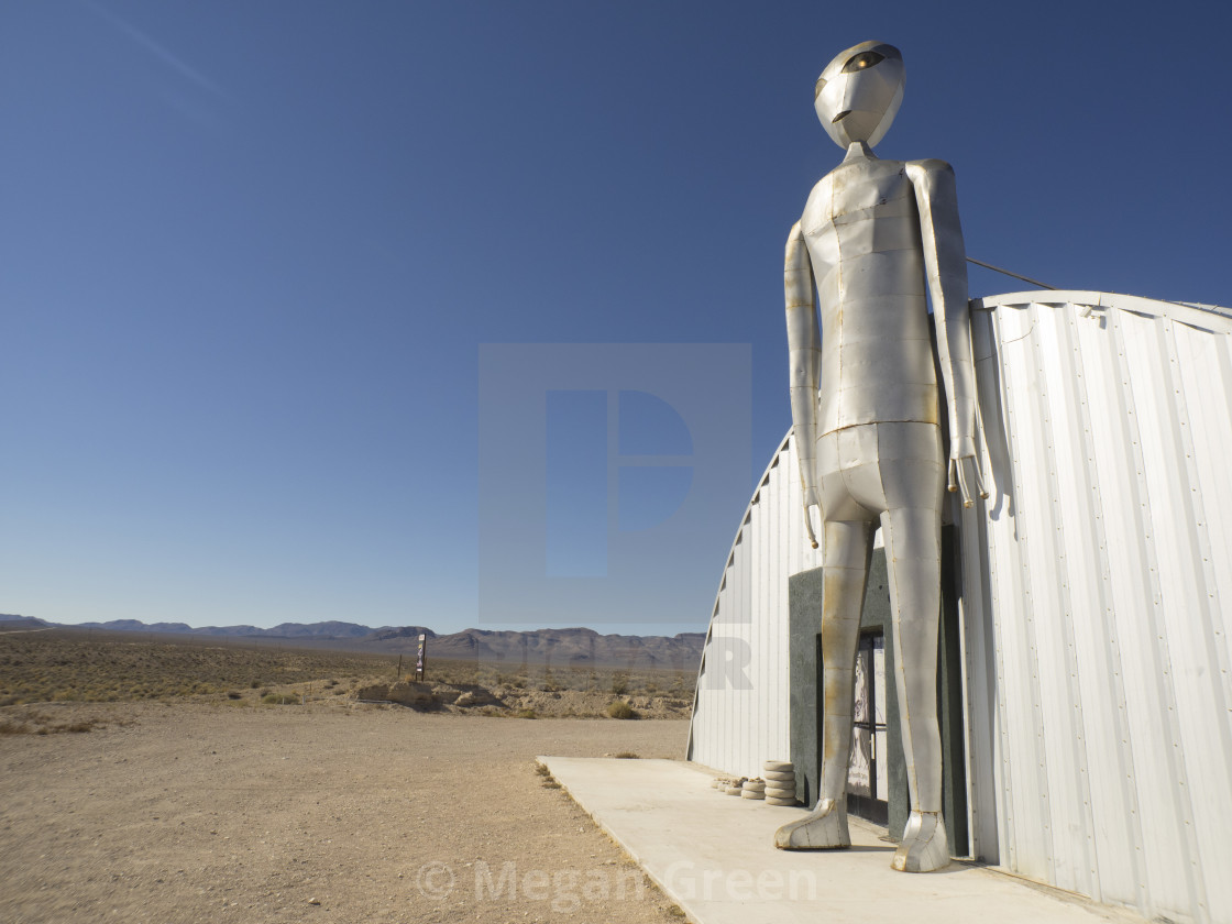 """""""Alien Research Center Gift Shop"""" stock image"""