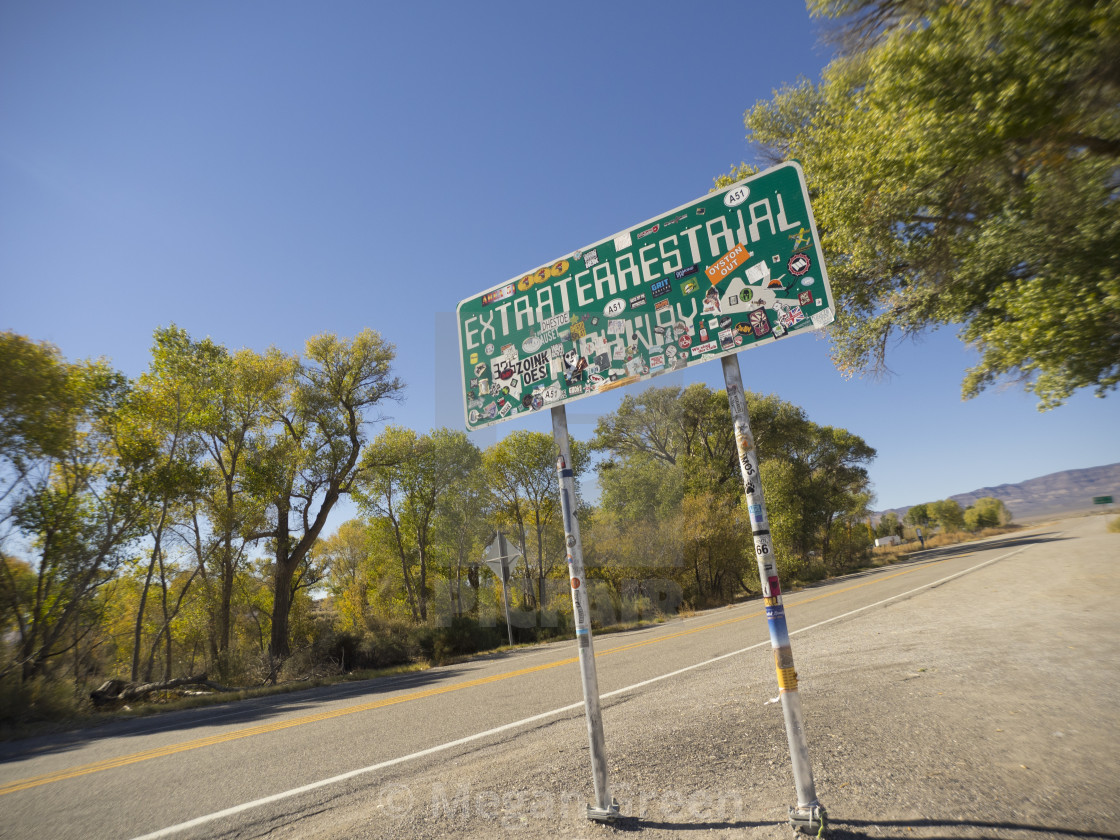 """""""Nevada State Route 375"""" stock image"""