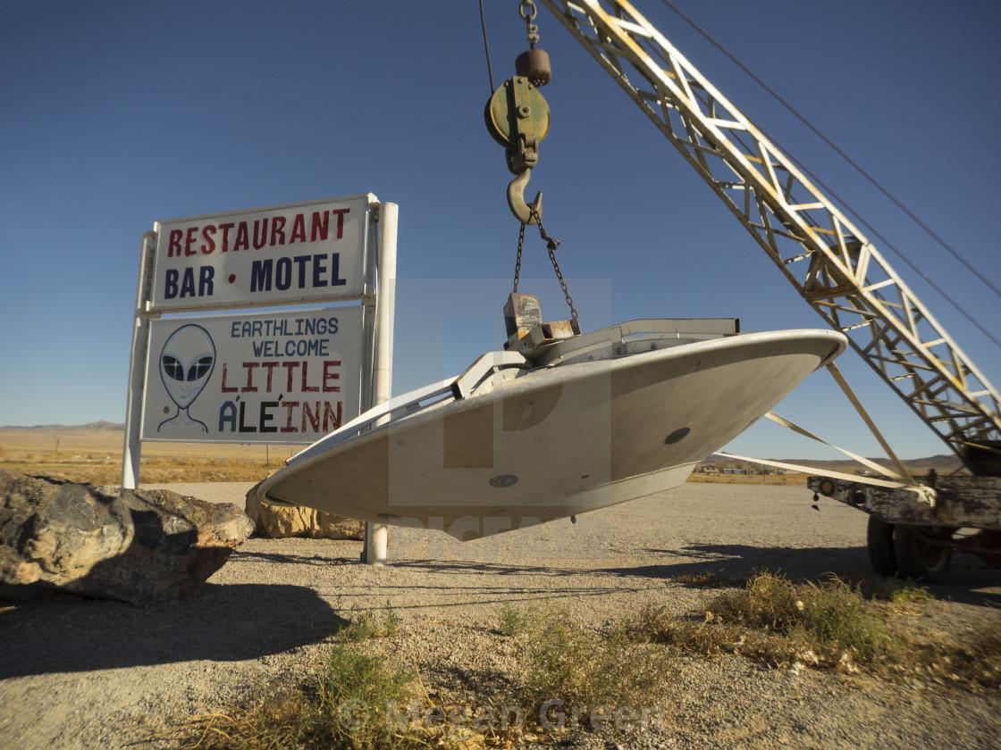 """""""Little Al E Inn Sign"""" stock image"""