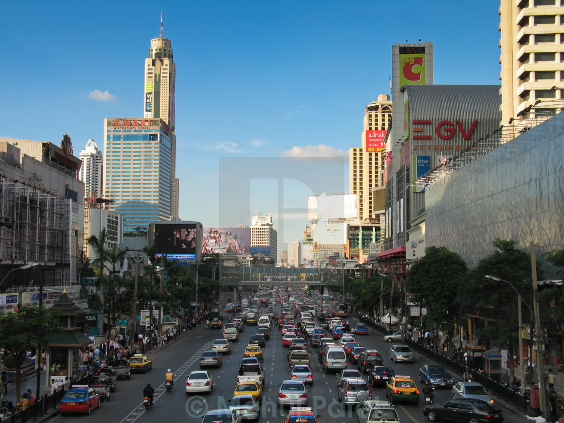 """Traffic in Bangkok, Thailand"" stock image"