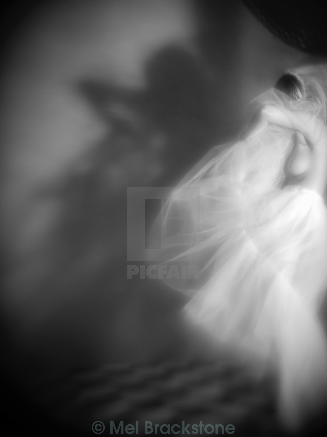 """Dancing with the shadows"" stock image"