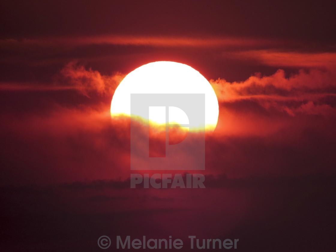 """""""Red Velvet Sunrise"""" stock image"""
