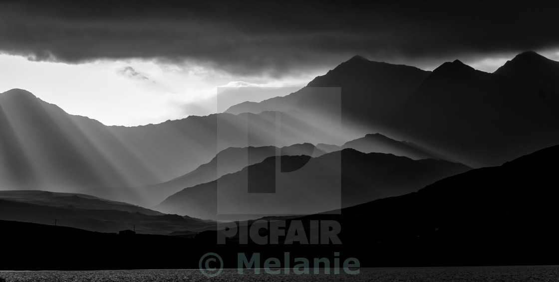 """Dramatic Mountains"" stock image"