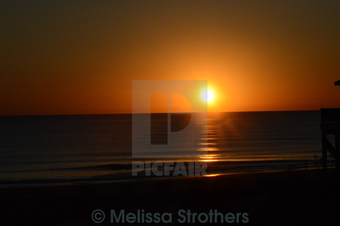 """Ocean Sunrise"" stock image"