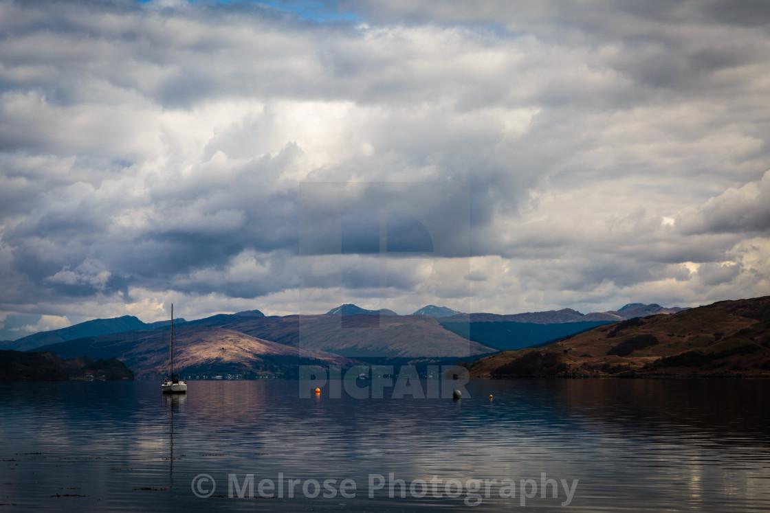 """""""Across the water in Arrochar Scotland"""" stock image"""