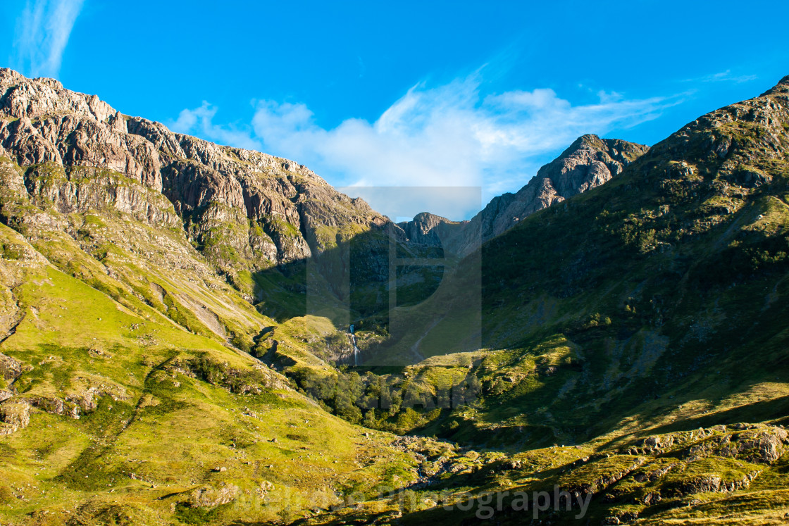 """Mountain view in Glencoe Scotland"" stock image"