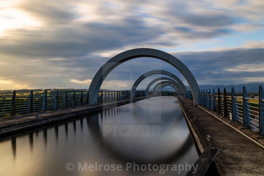 """Top of the Falkirk wheel in Falkirk Scotland"" stock image"