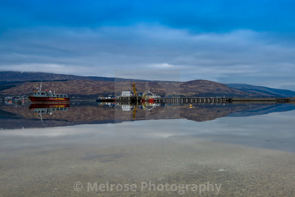 """""""Fort william Harbour View"""" stock image"""