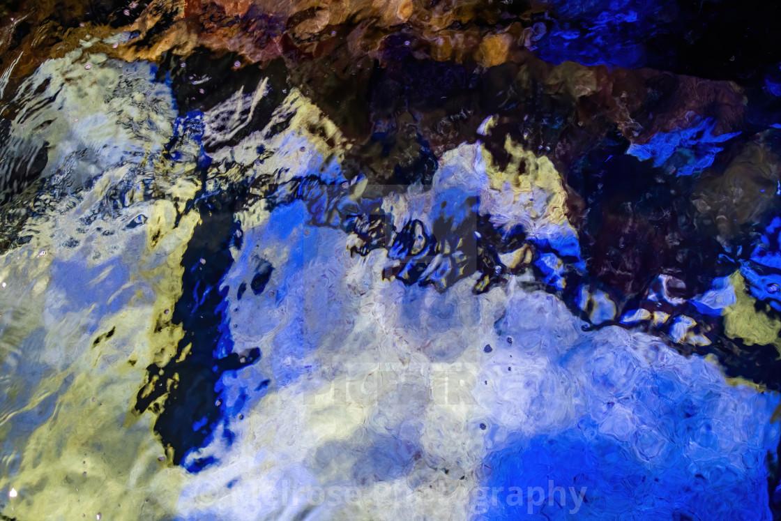 Abstract shark underwater