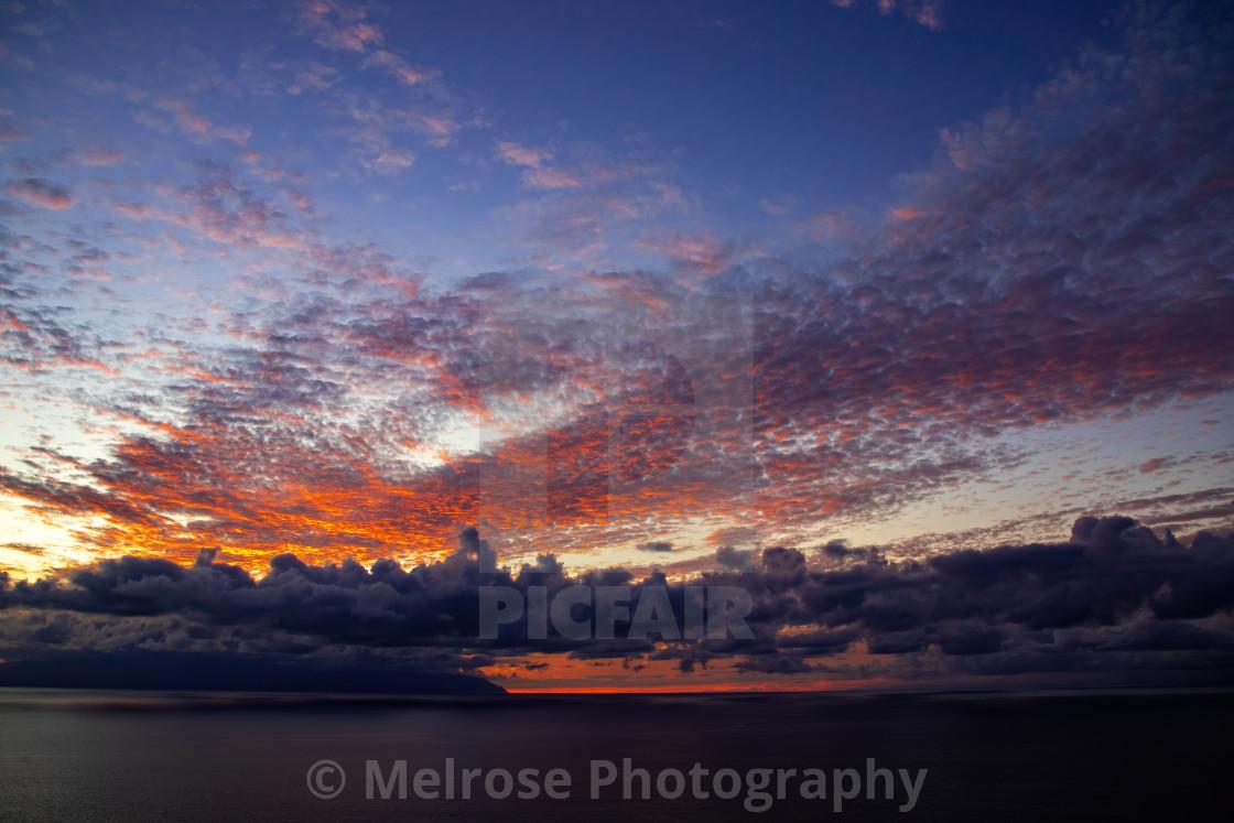 """Los Gigantis Sunset in Tenerife"" stock image"