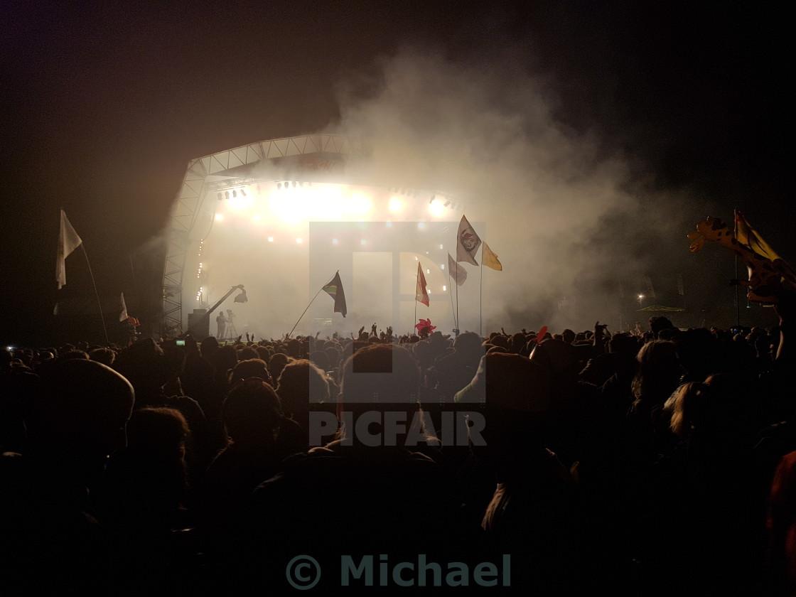 """Underworld Glastonbury Festival"" stock image"