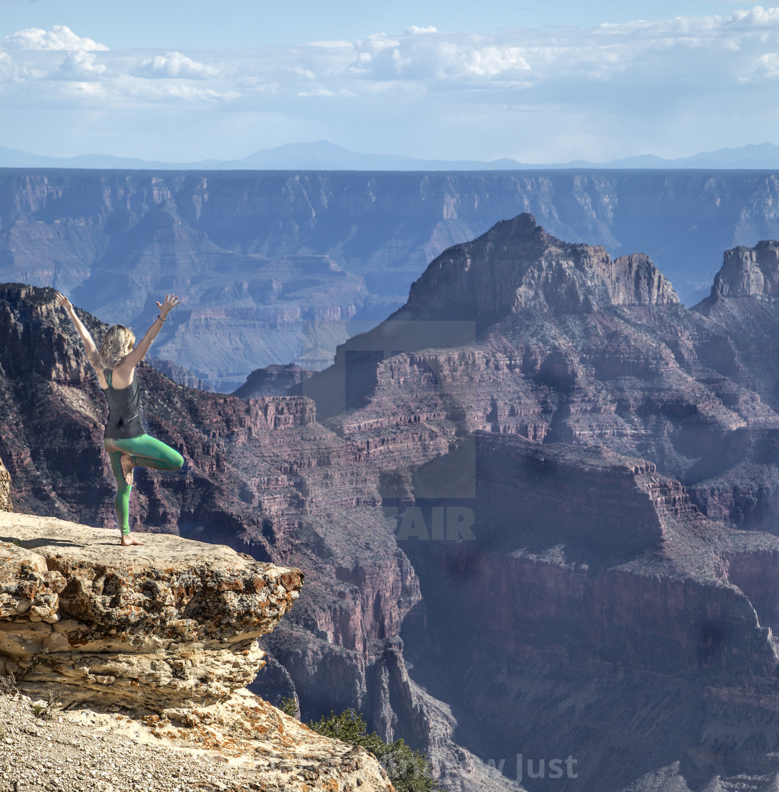 """Woman At Grand Canyon"" stock image"
