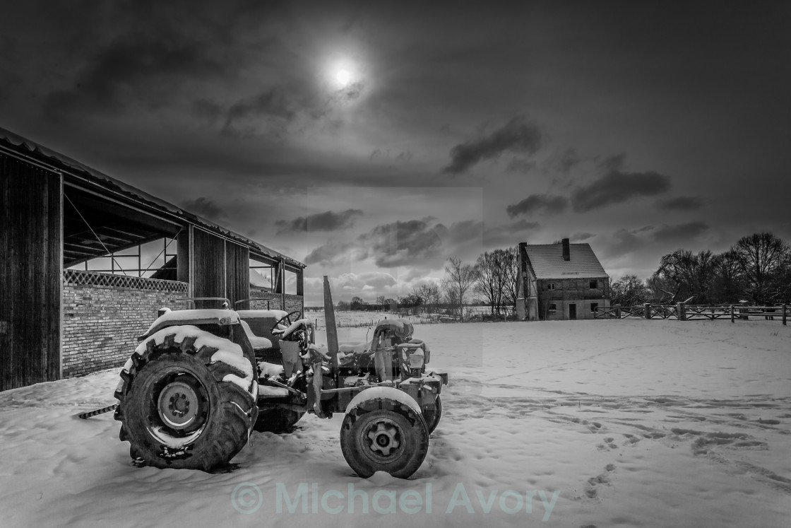 """Winter Farm Yard"" stock image"