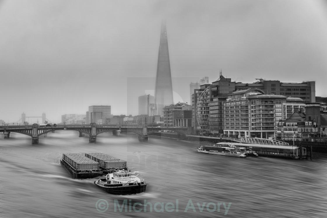 """""""Barge & Shard"""" stock image"""